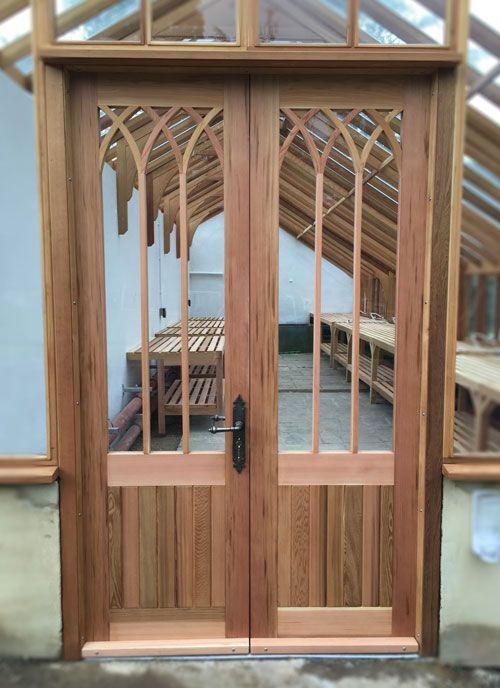 Gothic Styled Wooden Greenhouse Doors & Gothic Styled Wooden Greenhouse Doors | Garden Thoughts | Pinterest ...