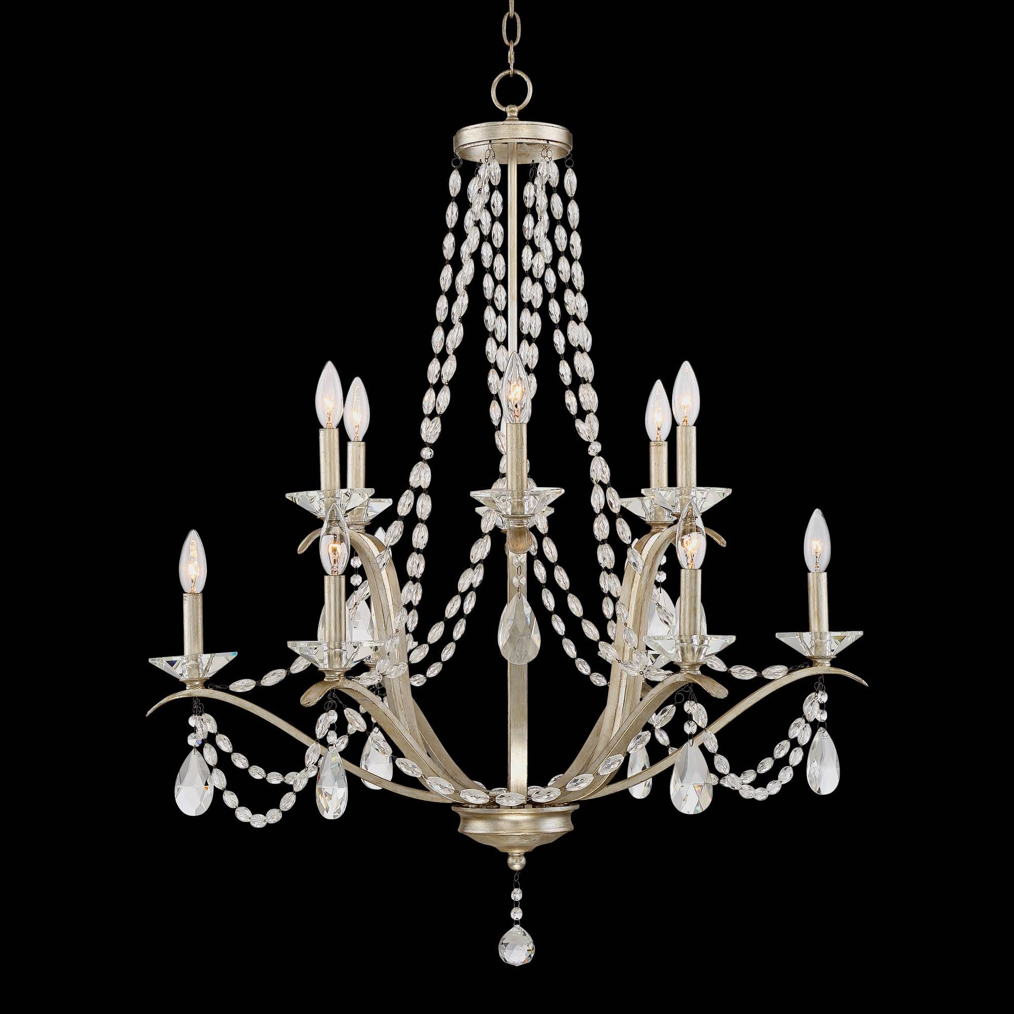 """Clemence 12 Light 32"""" Wide Gold Scavo Chandelier"""