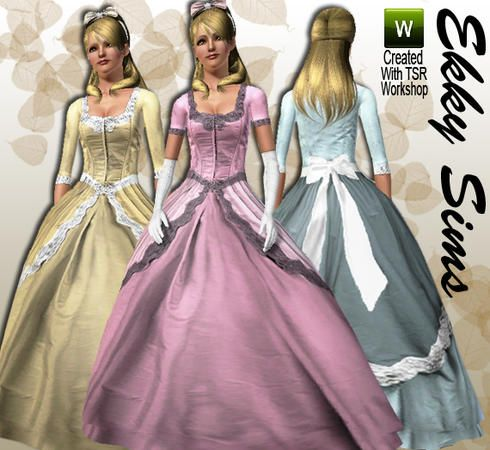 Ekky Sims Vintage Ballgown With Sleeves Requested Ball Gowns Sims Clothes For Women