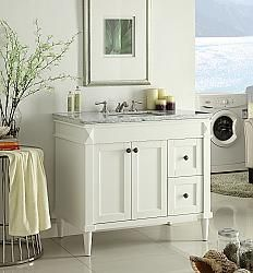 "35.5"" Diana (DA-736) : Bathroom Vanity #Diana #HomeRemodel #BathroomRemodel #BlondyBathHome #BathroomVanity"