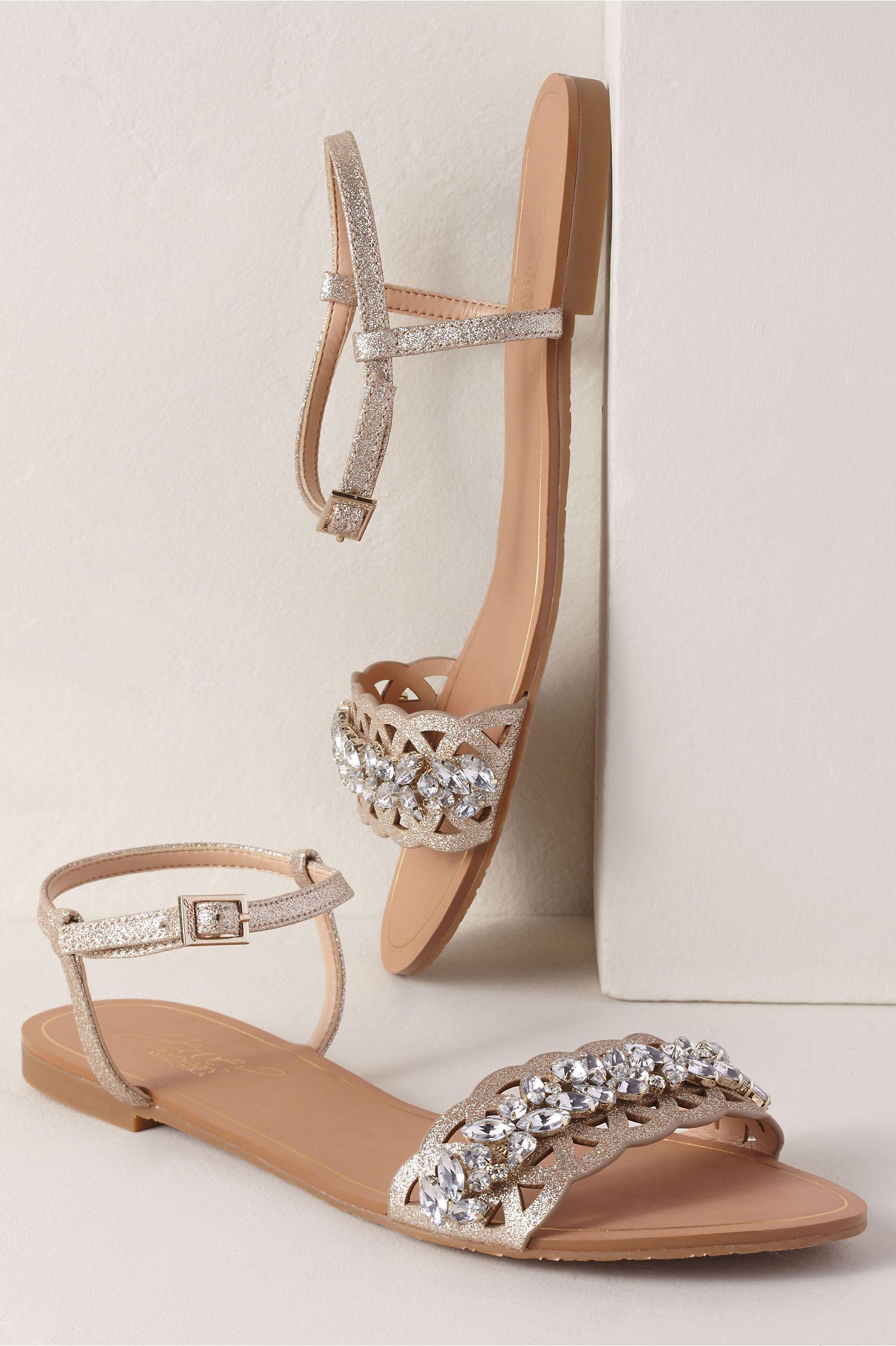 Jewel by Badgley Mischka Kimora Sandals   Sparkly wedding