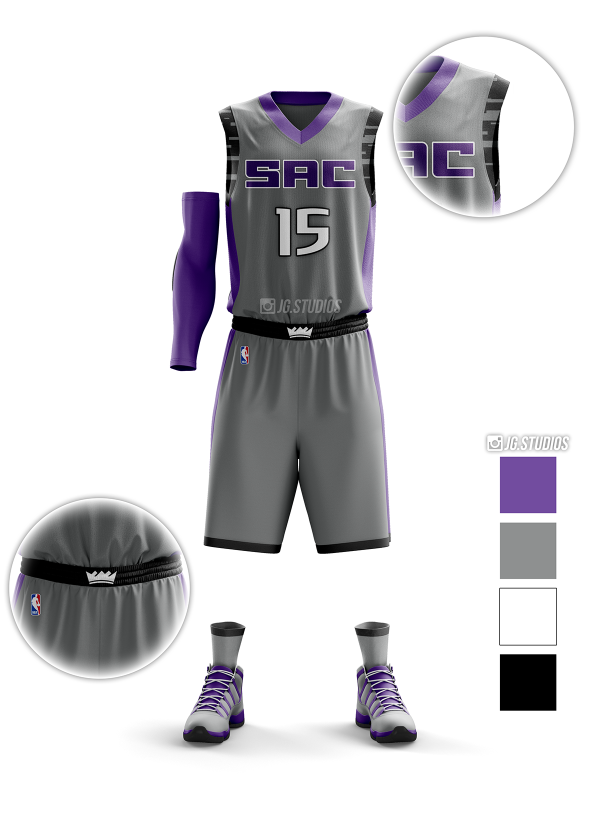 best sneakers ab83c 4154f Sacramento Kings Uniform Rebranding on Behance | uniform ...