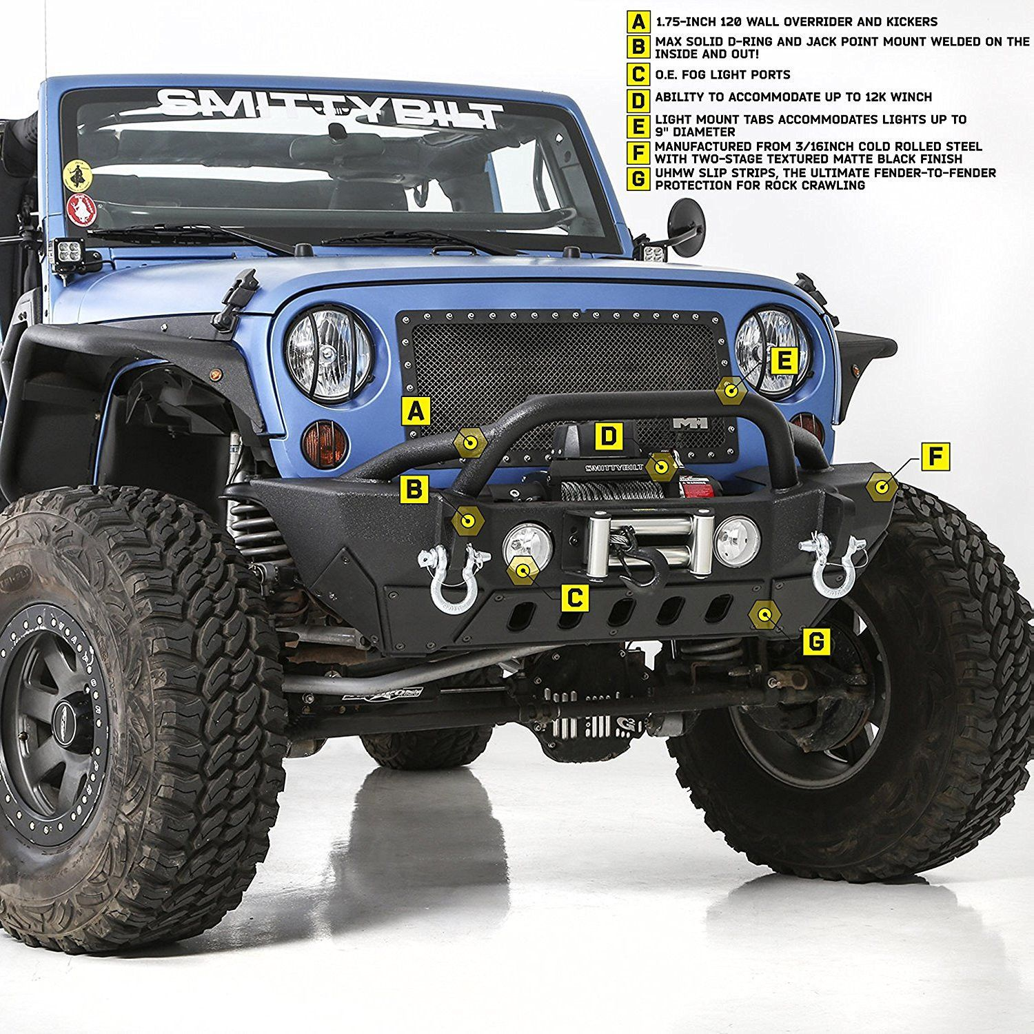 Fits 2007 To 2016 Jk Wrangler Rubicon And Unlimited Two Stage