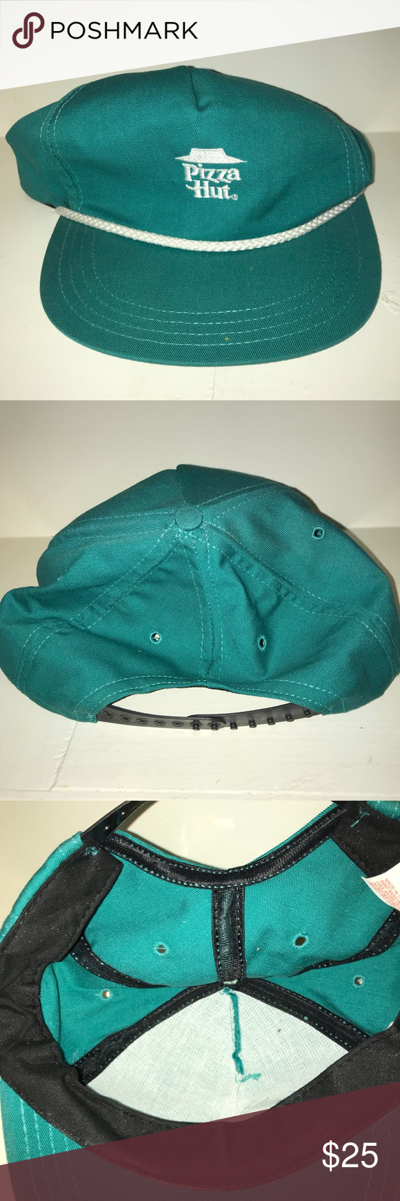 Vintage Pizza Hut Snapback Rope Hat Hats Crochet Bikini Pizza Hut