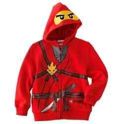 Lego Ninjago Boys Long Sleeve Red Hooded T-Shirt