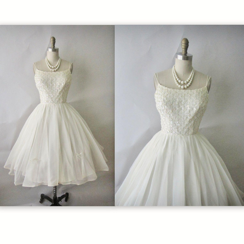 Us chiffon wedding dress vintage us white sequin chiffon