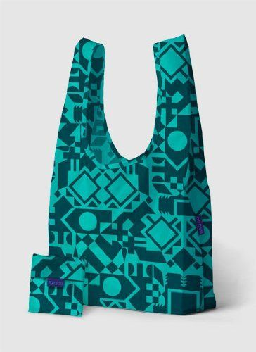 "Baggu 7-18122-30921-4 Reusable Bag - Ocean Shapes by Baggu. $9.99. Holds 50 lbs. 100% Ripstop nylon. Machine washable.. 15.5"" Wide / 25.5"" high / 6"" deep.. Ocean Shapes. Folds into a flat 5"" by 5"" pouch.. Holds 2-3 plastic grocery bags of stuff.. ""BAGGU"" REUSABLE BAG   BAGGU® makes simple, high quality bags in many bright colors. They're durable and fill many uses so you can own less stuff. Our best selling reusable bag is not just for the grocery store. Carry in your ..."