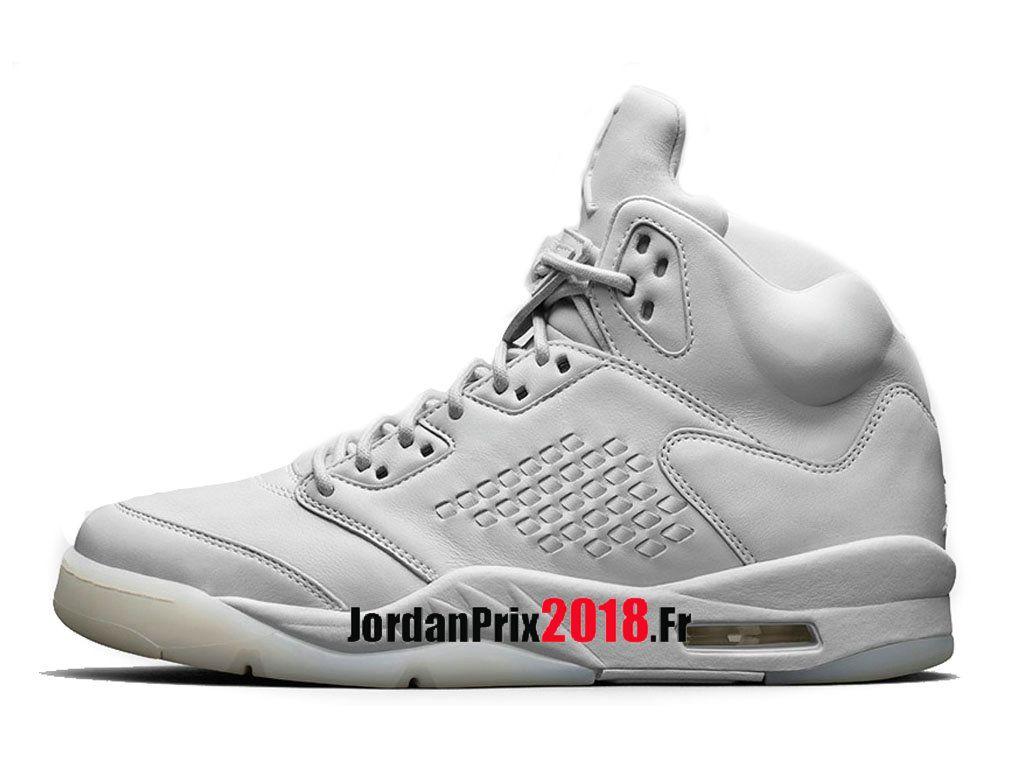 sale retailer f63db 54e93 Chaussure Basket Jordan Prix Pour Homme Air Jordan 5 Premium Pure Platinum  881432-003