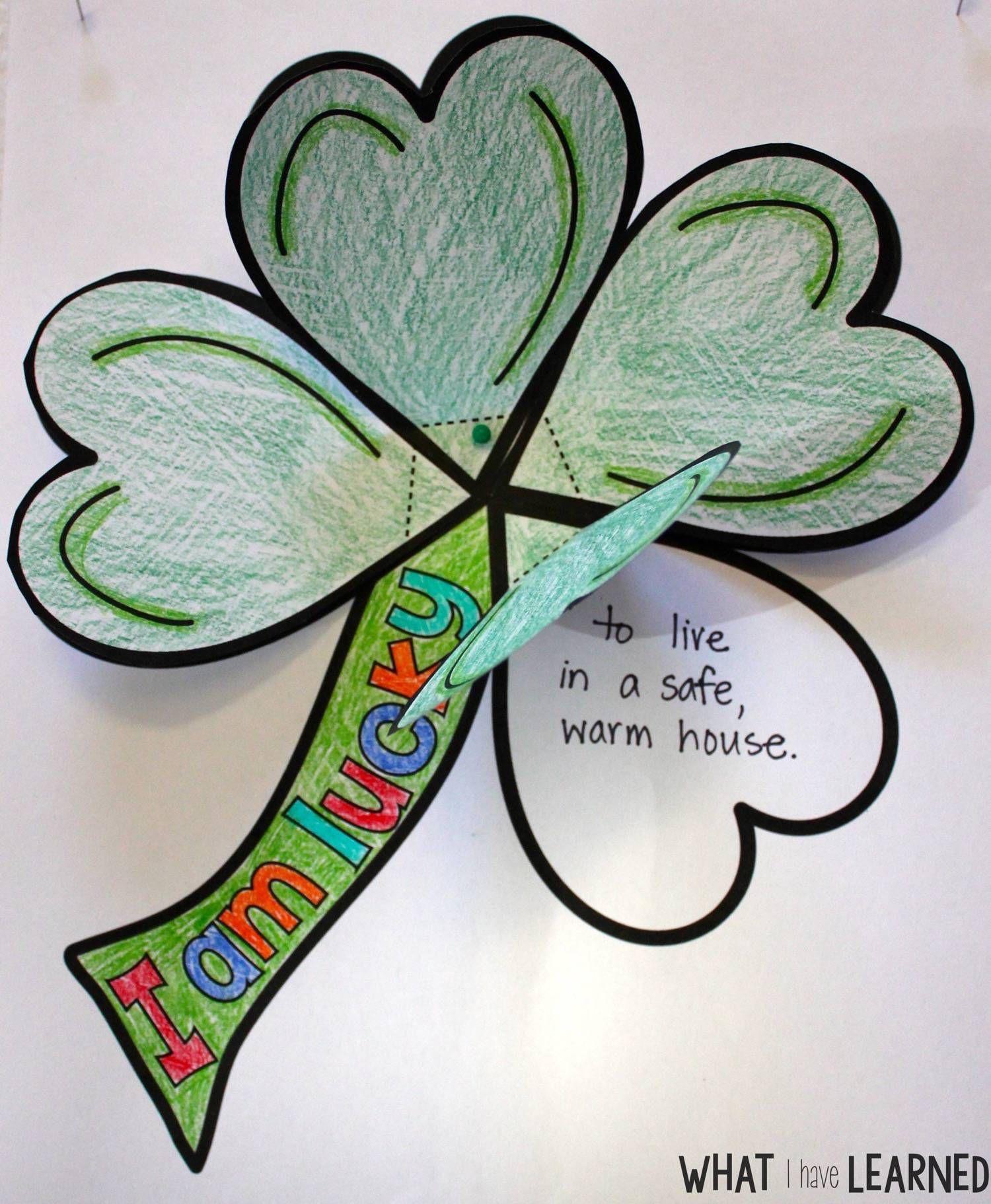 St Patrick S Day Clover I Am Lucky Craftivity