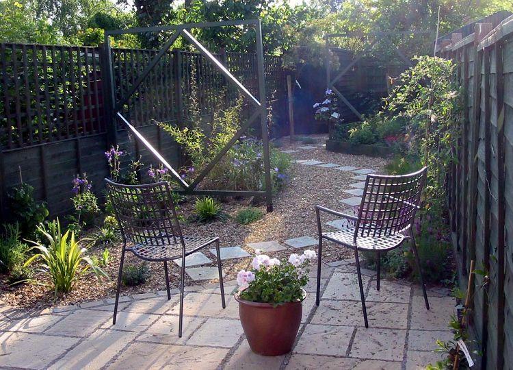low maintenance garden for long narrow space