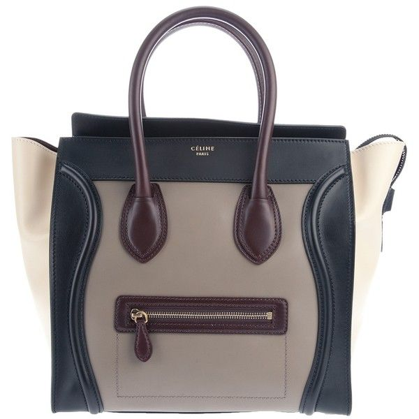 C?LINE 'Luggage' shopper ($1,990) ❤ liked on Polyvore featuring bags, handbags, tote bags, celine, women, leather purse, shopping bag, leather tote bags, leather tote shopper and brown leather tote bag