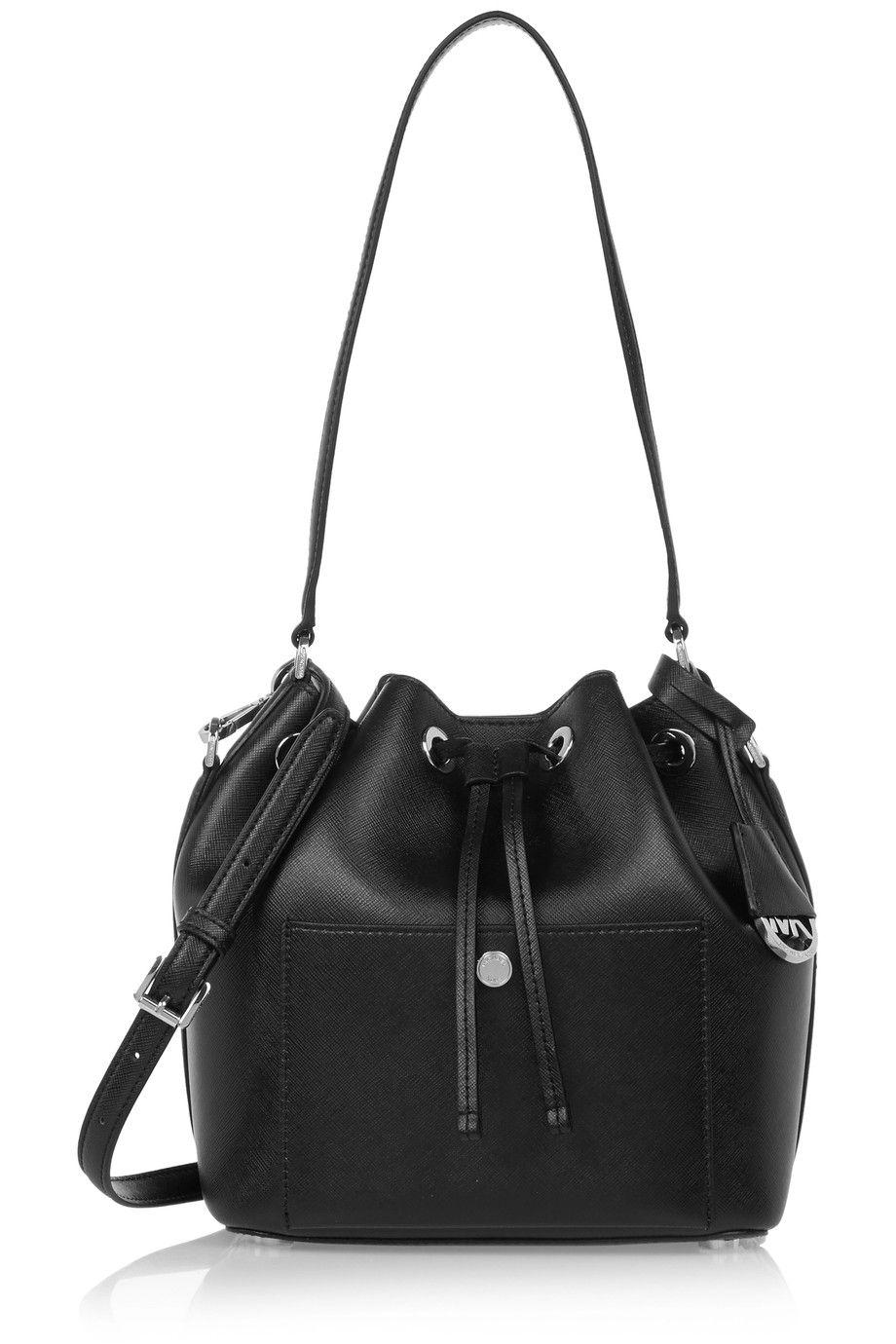 d832928cfc9c32 MICHAEL MICHAEL KORS Greenwich medium textured-leather bucket bag.  #michaelmichaelkors #bags #shoulder bags #hand bags #leather #bucket #