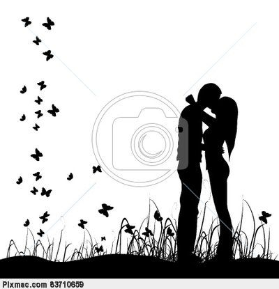 Clipart With Images Kissing Silhouette Silhouette Vector