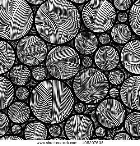 Stock Vector Seamless Pattern Black And White Abstract Lines And