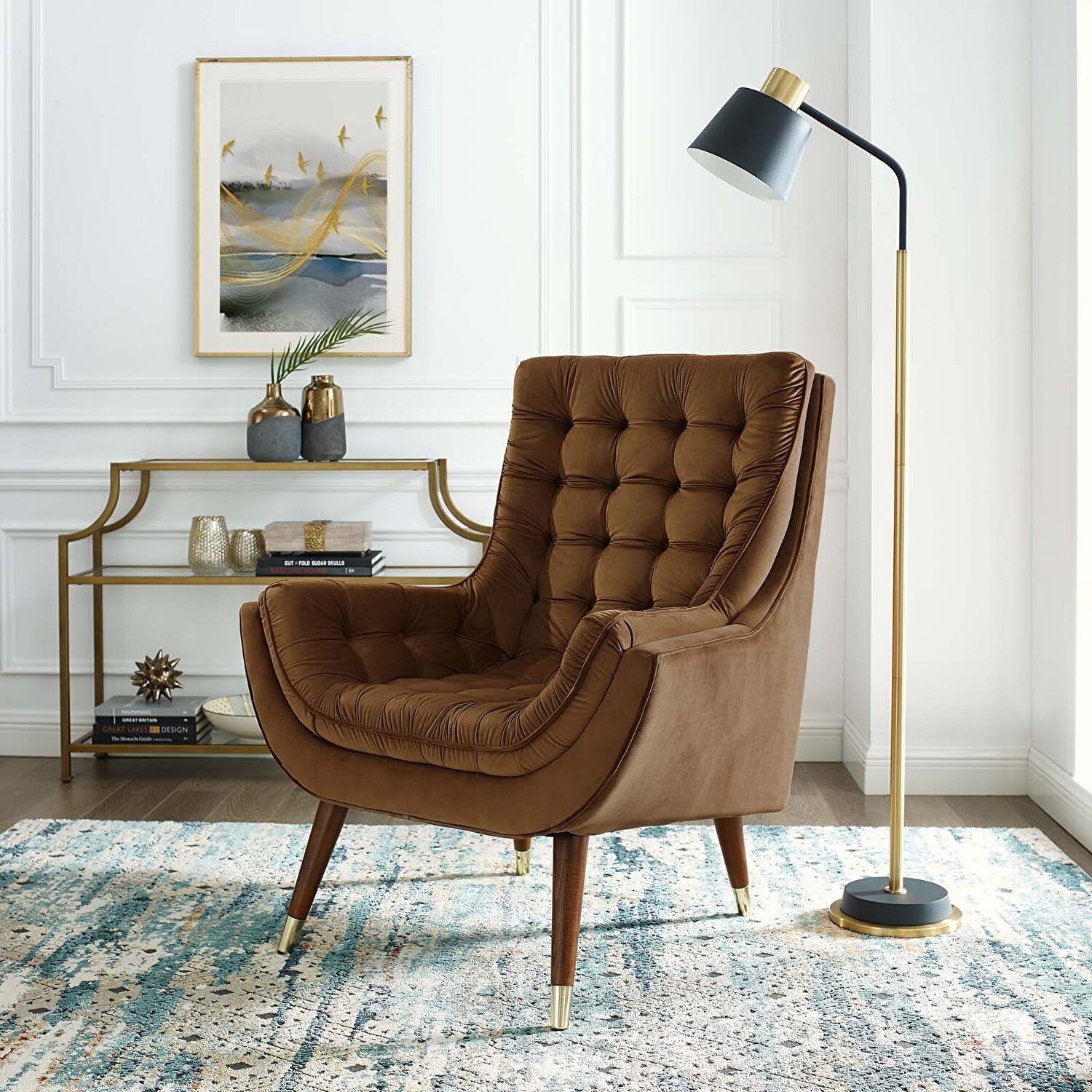 Suggest Brown Chair Eei 3001 Brn Modway Furniture Chairs In 2021 Velvet Lounge Chair Velvet Lounge Living Room Lounge