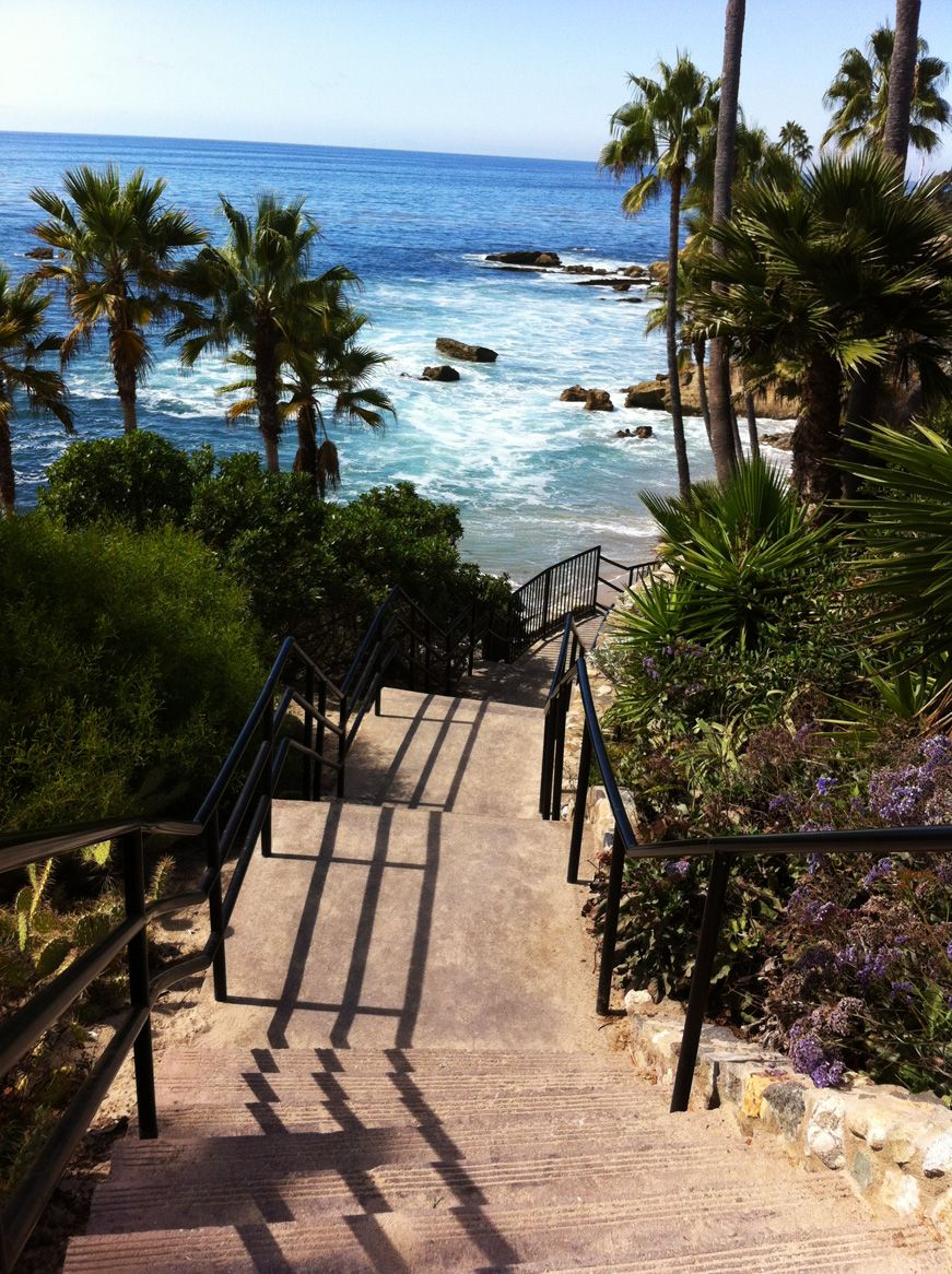 Rock Pile Stairs In Heisler Park Laguna Beach California Aka Stairway To Paradise