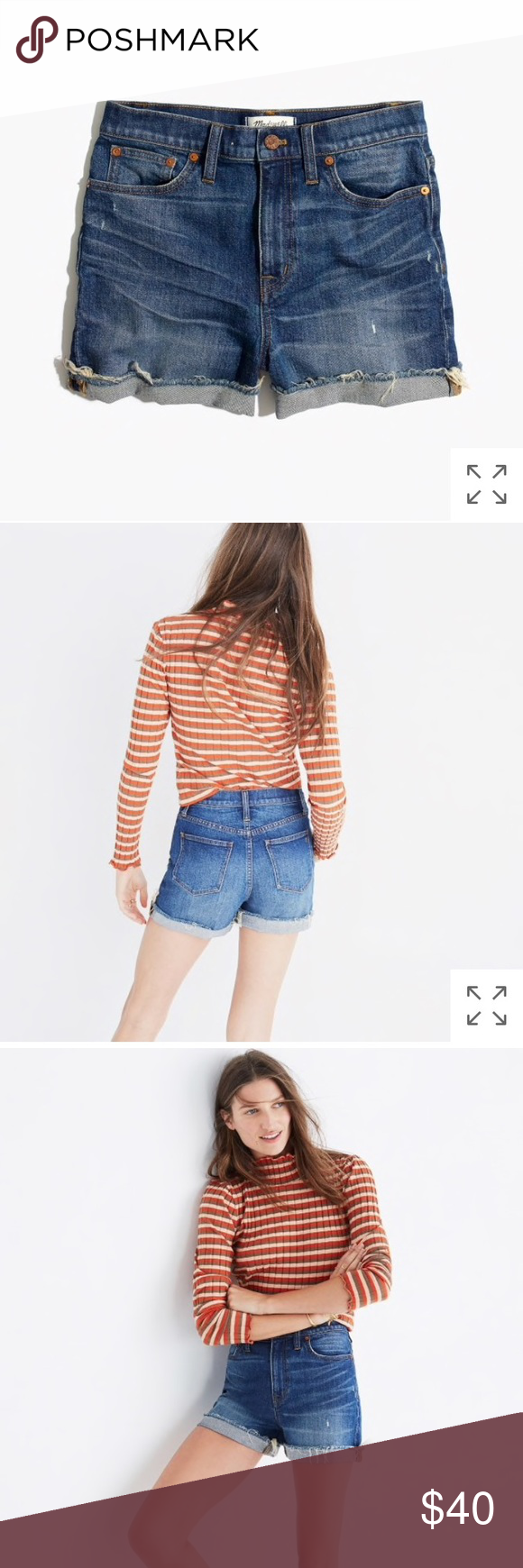 5050be8ed4d Madewell High-Rise Denim Boyshorts in Glen Oaks Euc. Just too big on me now  as I lost weight —PRODUCT DETAILS With a super-flattering (and ...