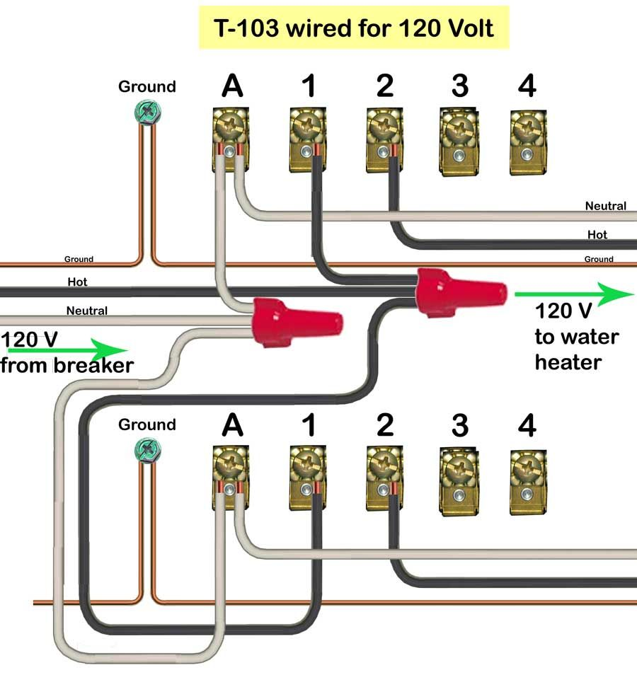 02d1547ebce470fe5427e8f2ba20f194 waterheatertimer org how to wire t104 intermatic timer html intermatic timer wiring diagram at edmiracle.co