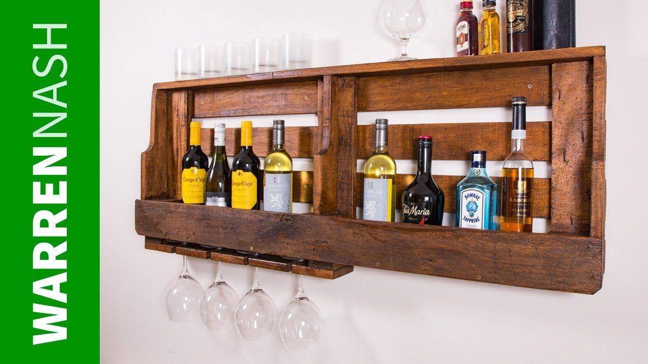Diy Pallet Wine Rack With Gl Holder