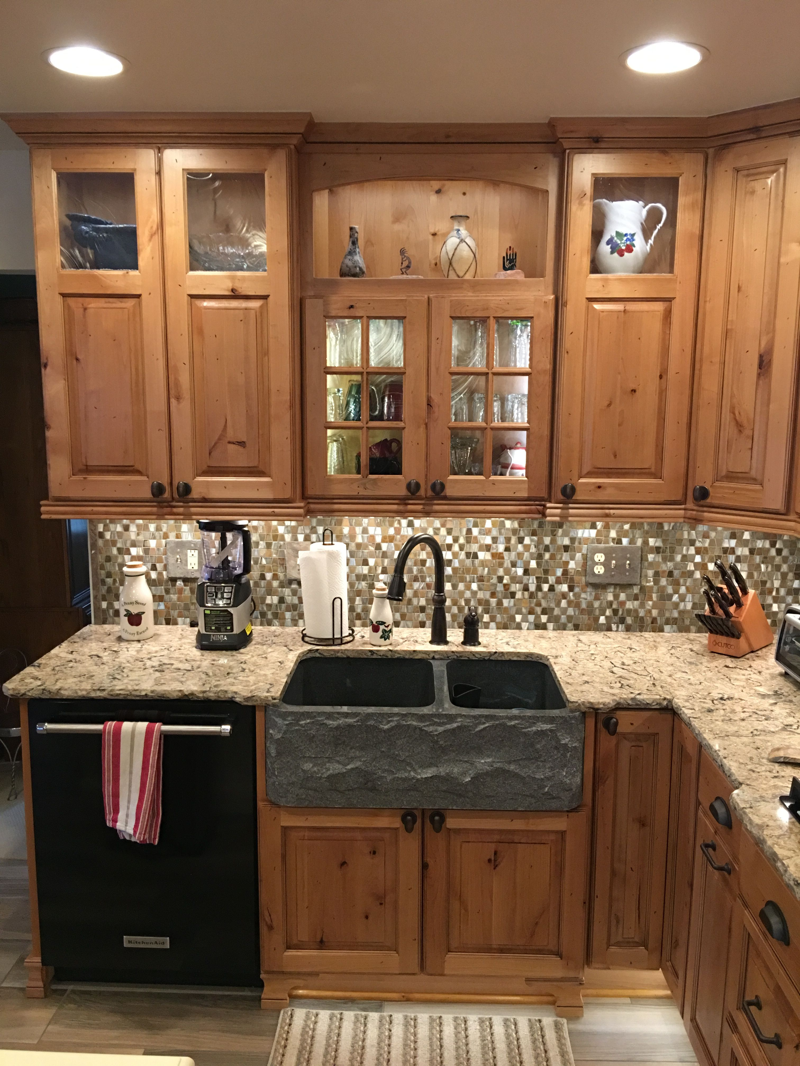 Rustic Kitchen New Showplace Cabinetry Rustic Alder