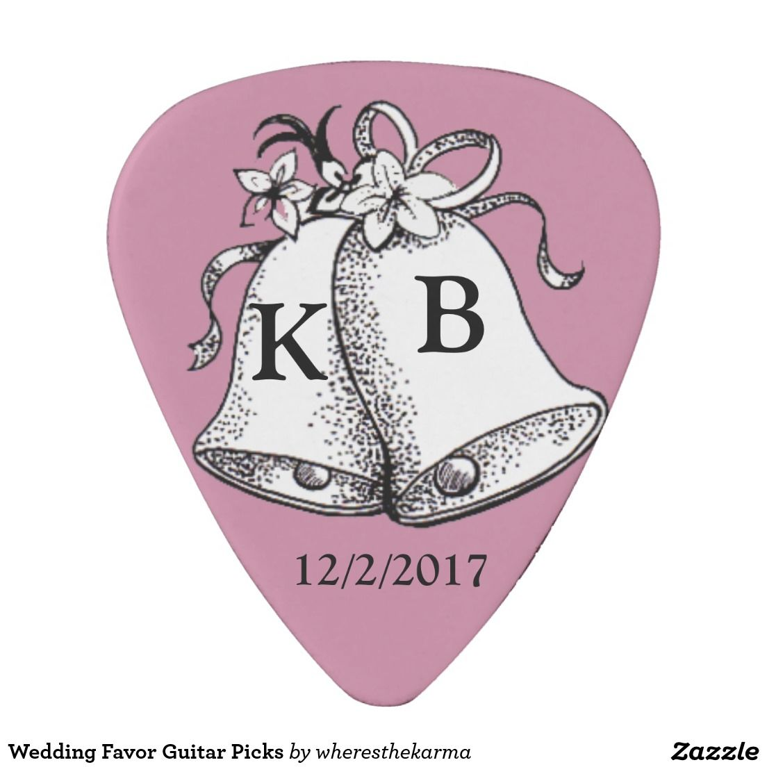 Wedding Favor Guitar Picks | Guitar Pick Wedding Favors | Pinterest ...