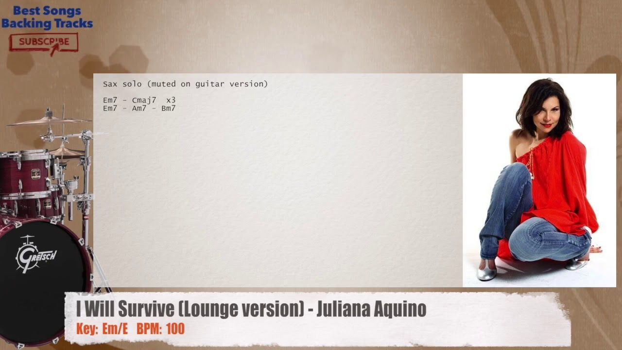 I Will Survive Lounge Version Juliana Aquino Drums Backing Track