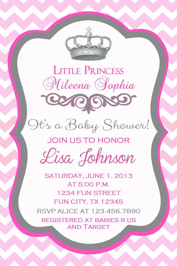 Princess Crown Baby Shower Invitation by LovableInviteDesigns ...