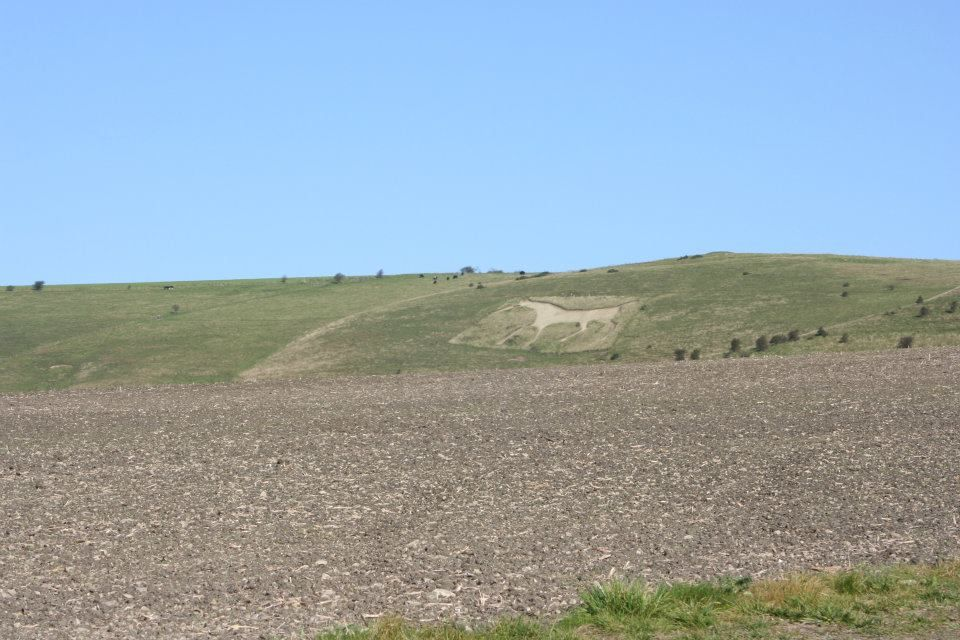 Chalk Hill White Horse near Avebury