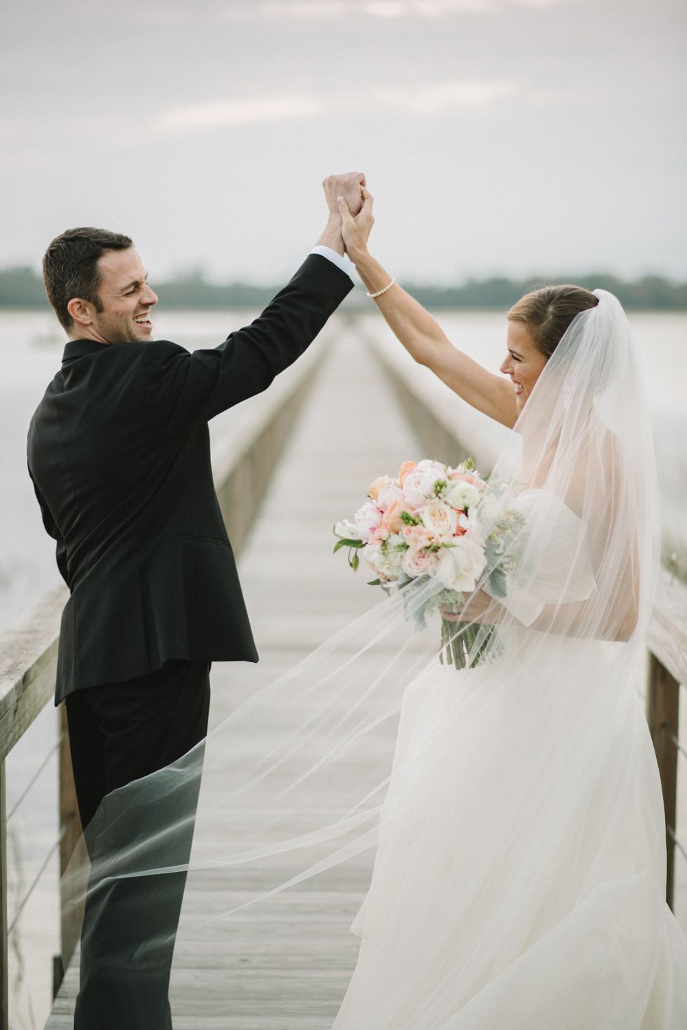 Incredible Sunset Wedding Ceremony & Black Tie Dance Party