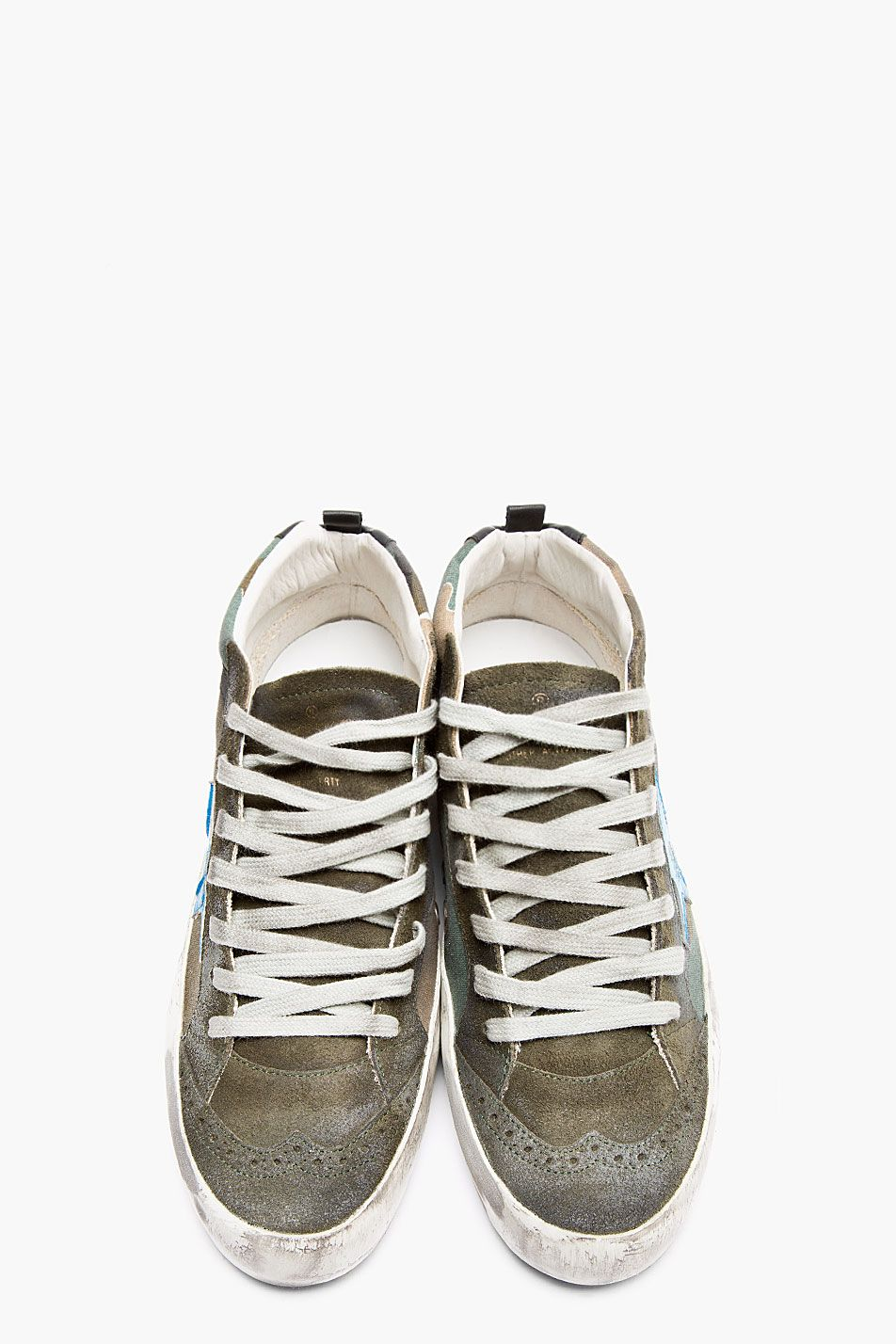 GOLDEN GOOSE Olive Camo Print Canvas STar sneakers