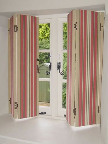 Fabric Covered Shutters Window Treatment Ideas Shutt
