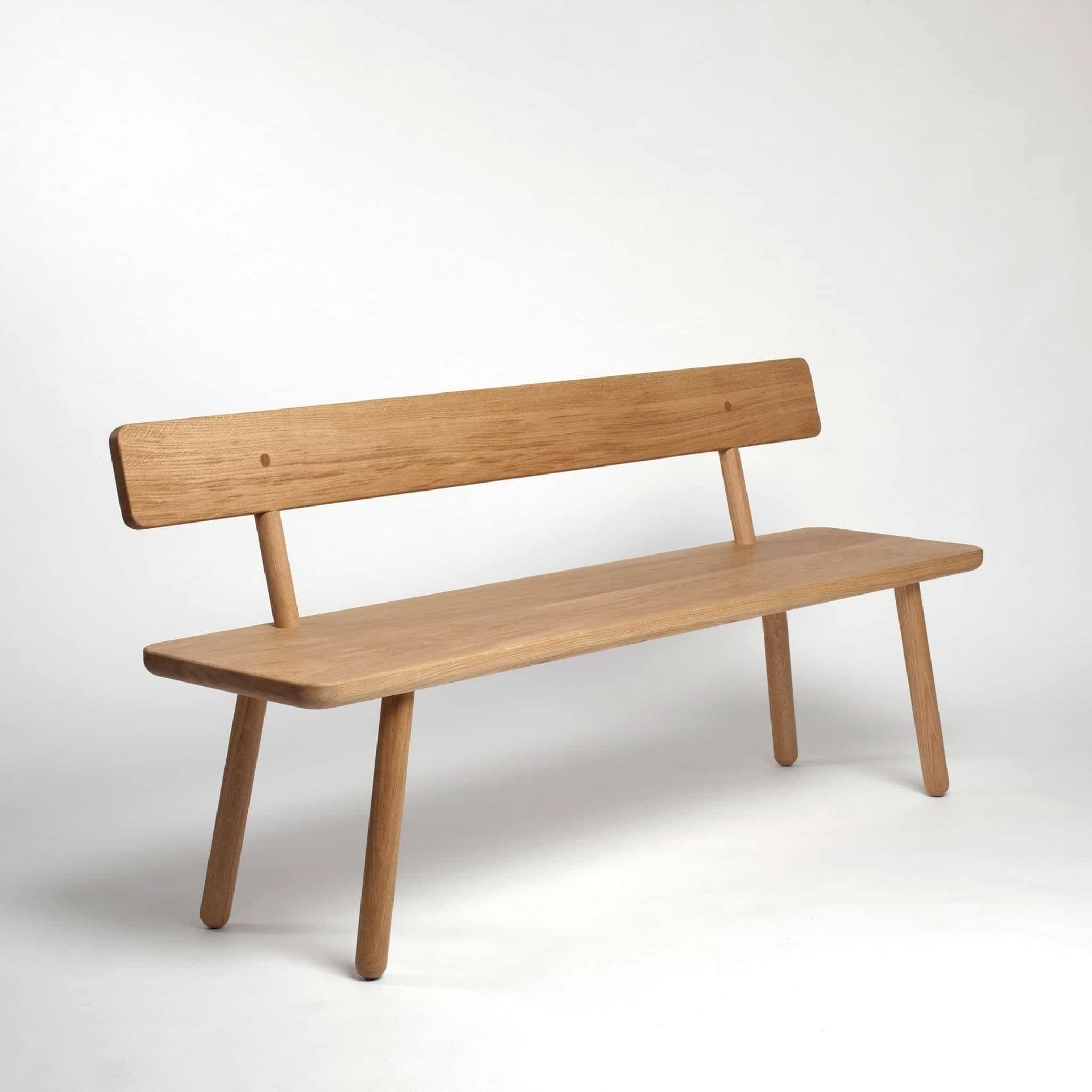 Bench Back One Oak Dining Bench With Back Dining Room Bench