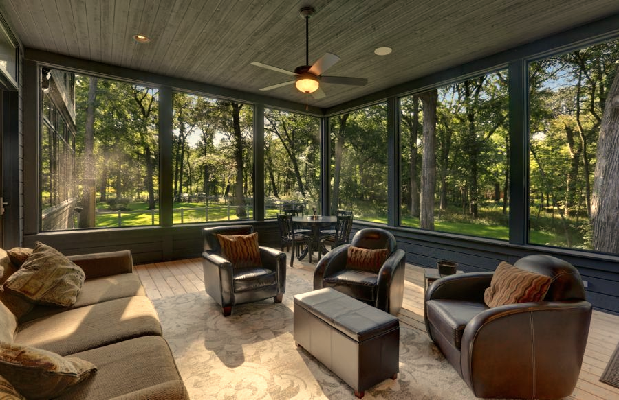 Beautifully Modern Screen Porch Screened Porch Designs House With Porch Porch Design