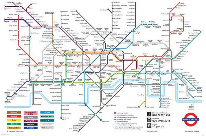 Plakat Londynske Metro Mapa Londynskeho Metra Londyn
