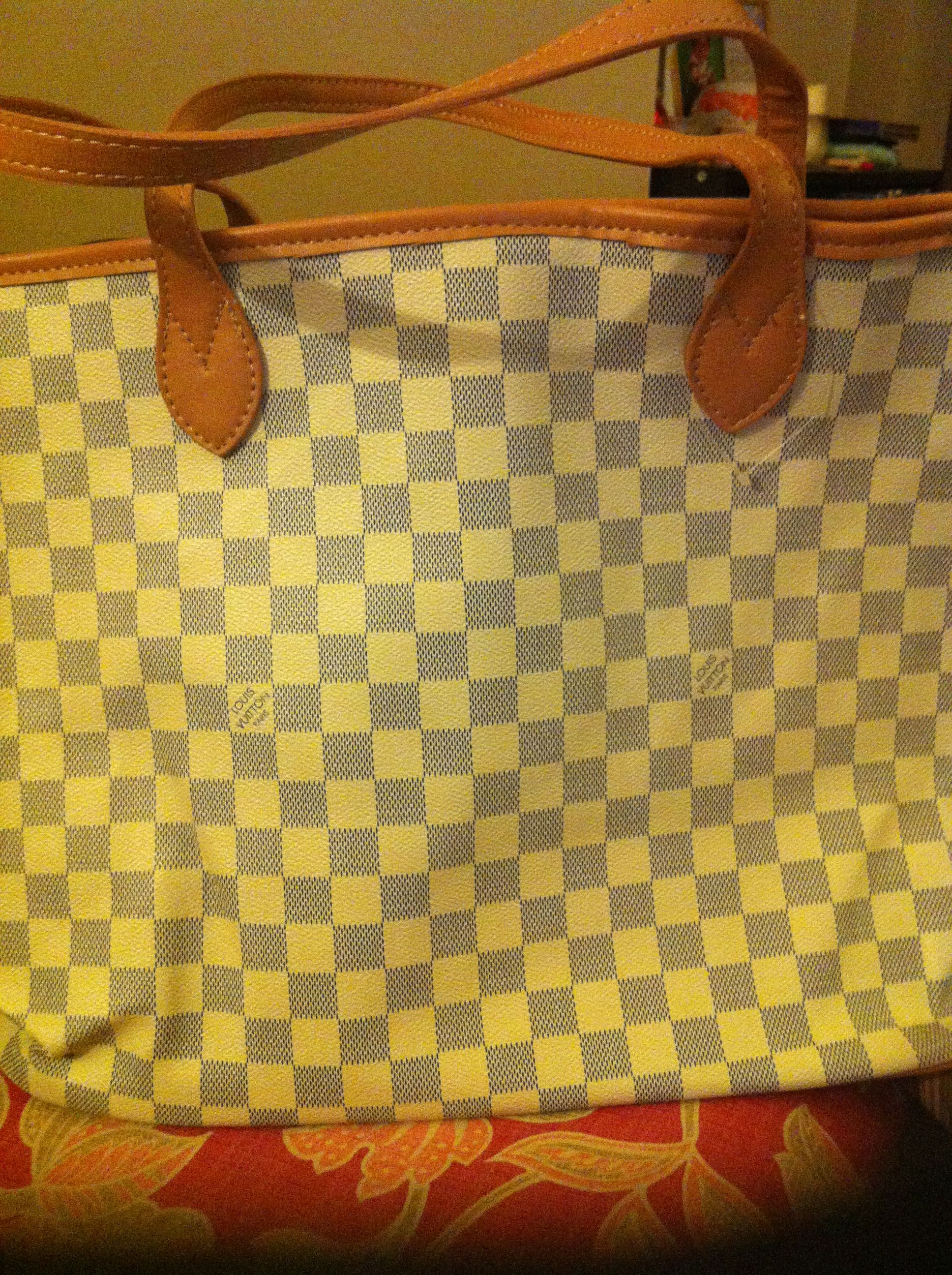 Large faux LV purse. New, clean inside and out. $60