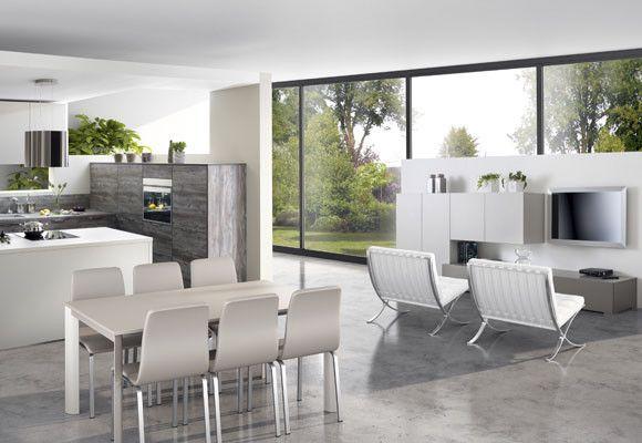 Una cocina abierta a la familia for the home pinterest for Diseno de cocina abierta