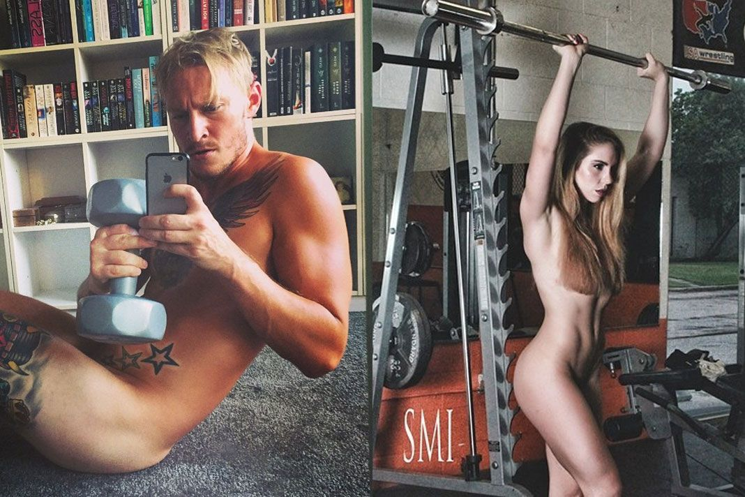 Hot women naked workout, young art model topless