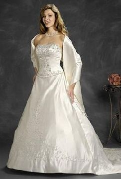 simple woman wedding gowns