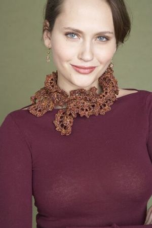 Free Crochet Pattern: Ruffle Necklace Scarf | Which scarf to make ...