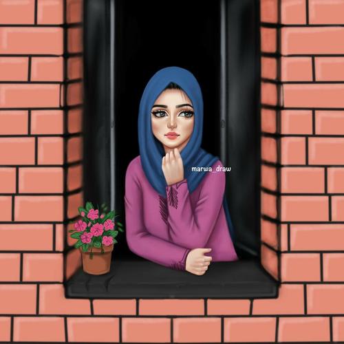 Image by Naz Girly art, Cute cartoon girl, Cute girl drawing