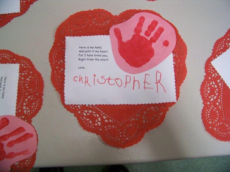 handprint valentine