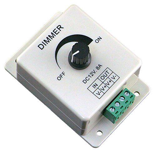Euone 12v 8a Pir Sensor Led Strip Light Switch Dimmer Brightness Adjustable Controller Want To Know More Led Strip Lighting Led Dimmer Switch Strip Lighting
