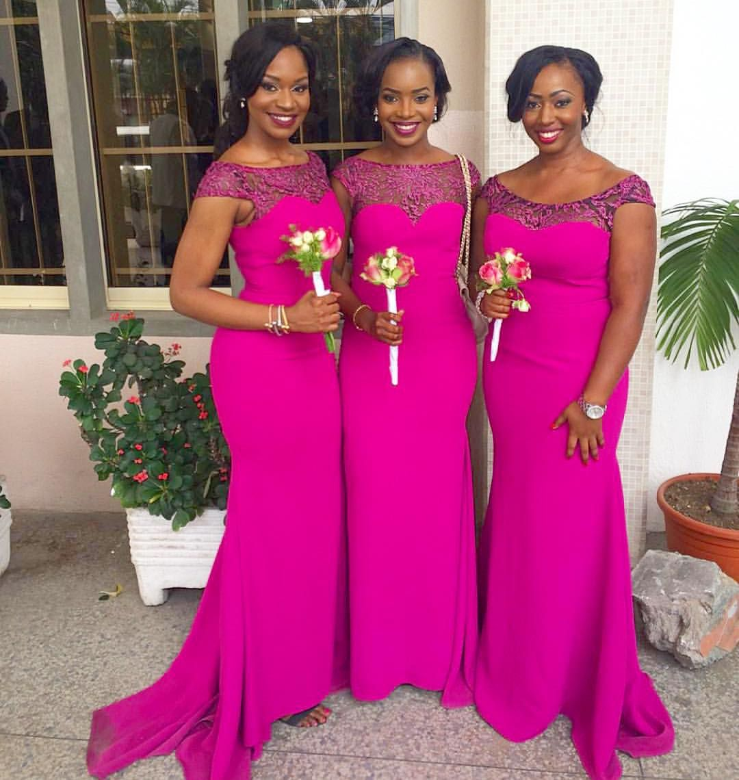 chiamy45 on bridesmaids duty ! #NWbms #NigerianWedding #Bridesmaids ...
