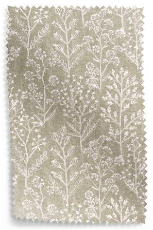 Buy Natural Textured Floral Sprig Print Eyelet Curtains Studio Collection By Next From The UK