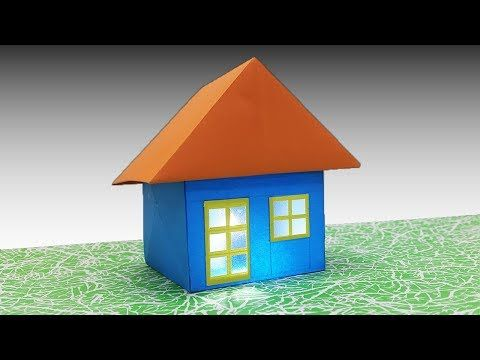 How To Make A Paper House Very Easy Diy 3d Origami House