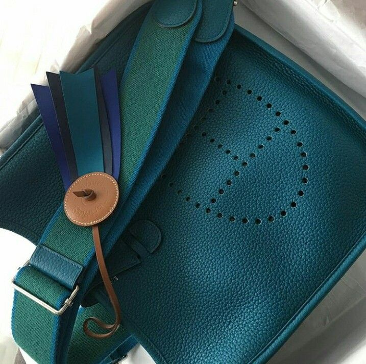 034164a1dfa2 ... authentic model hermes evelyne 29 condition preowned stamp q color blue  izmir with 81f8f 4e25a