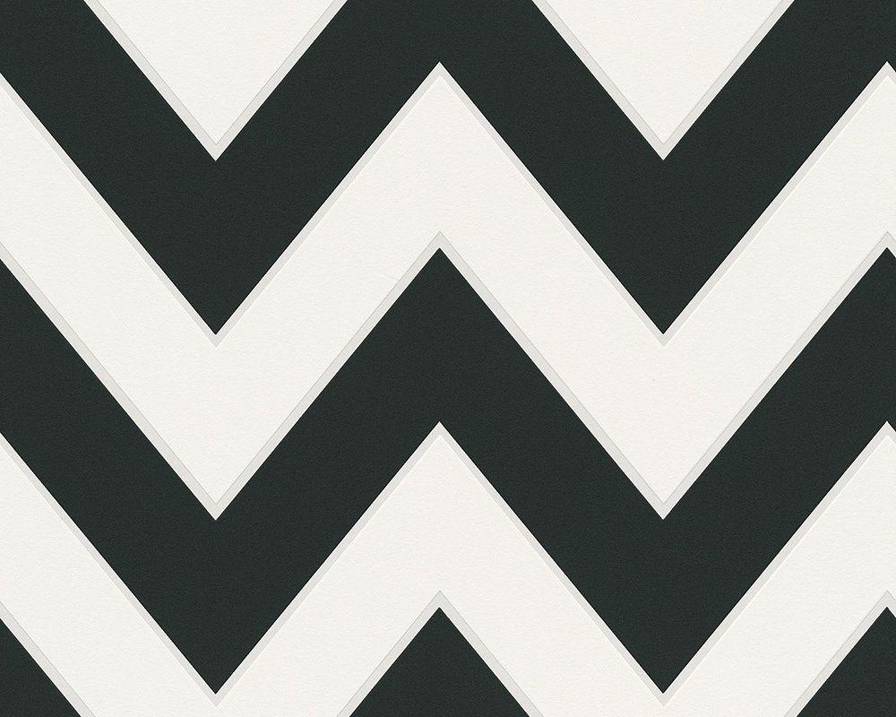 Tapete / Vliestapete Black U0026 White 2. Rolle: 0,53x10,05 M