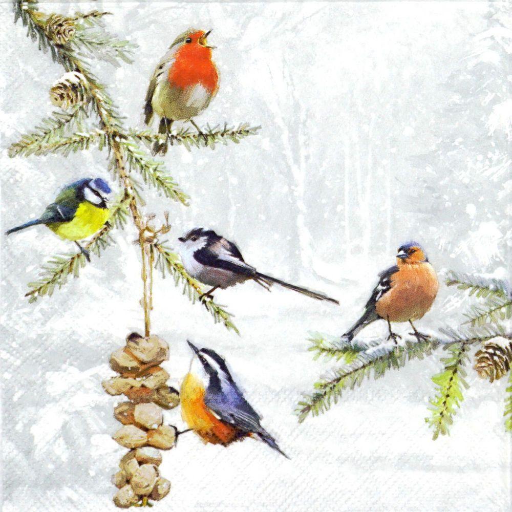 4 x Single Paper Table Napkin//Decoupage//Craft//Christmas//A Winters Tale