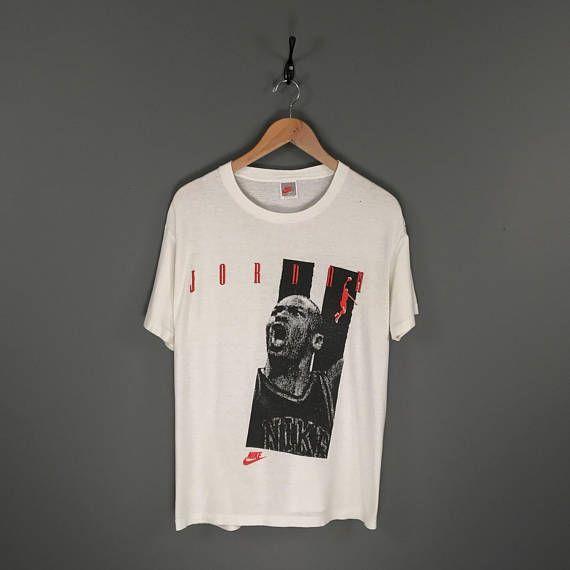 e97b95c0a17a •90s Michael Jordan Nike Gray Tag Promo Basketball T-Shirt •Vintage 90s Nike