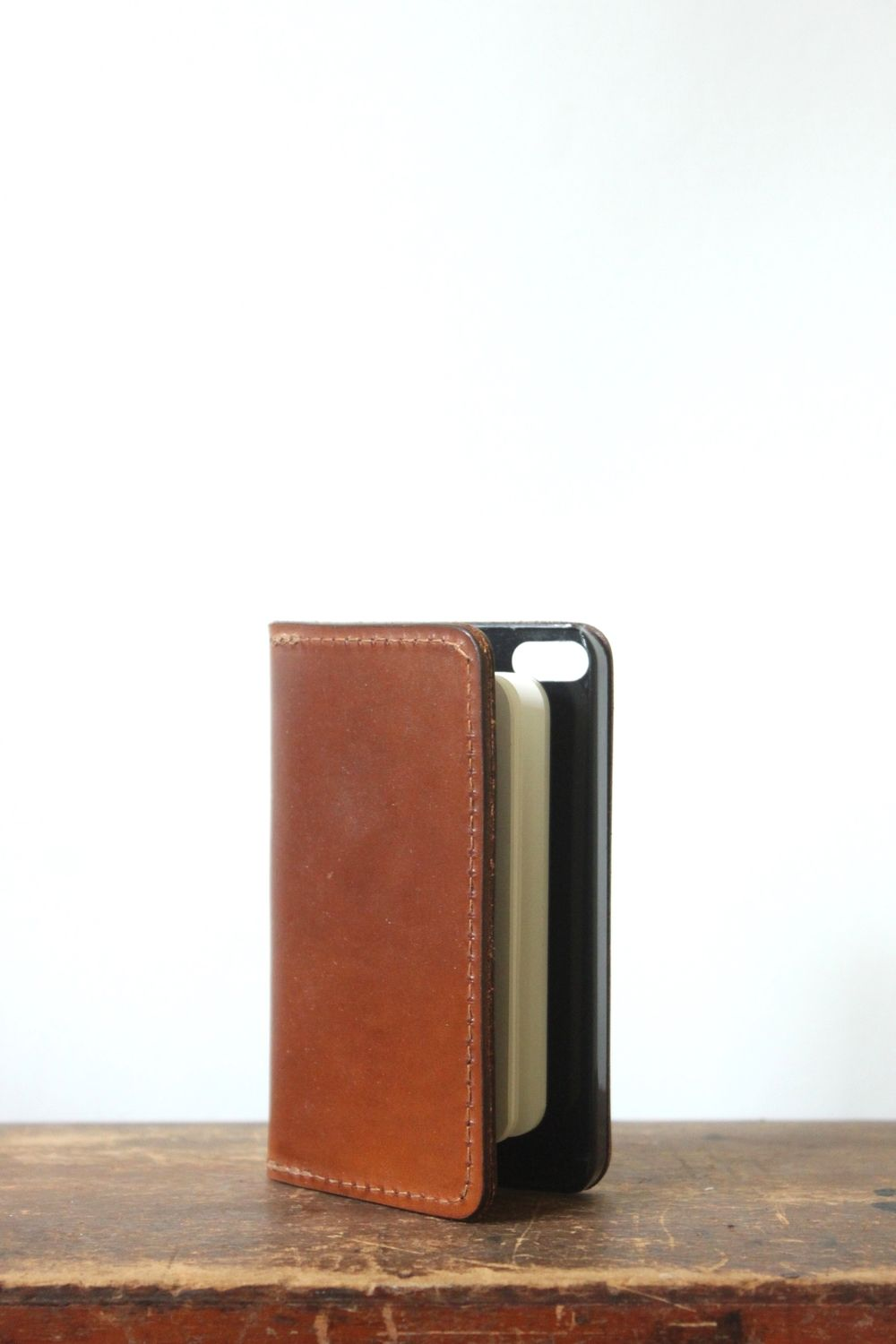 Leather bound notebook wallet phone case #leather